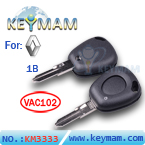 Renault 1 button remote key shell(without  logo)