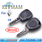 Renault 1 button remote key shell(without battery location)