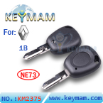 Renault  1 button remote key shell