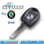 Skoda ID48 transponder key with light