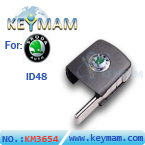 Skoda ID48 filp remote key head
