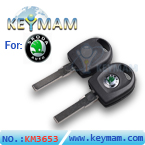 Skoda key shell with light
