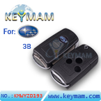 Subaru 3 button flip remote key shell