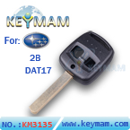 Subaru 2 button remote key shell