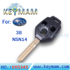 Subaru 3 button remote key shell