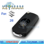 Suzuki 2 button flip remote key shell