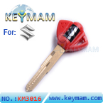 Suzuki motocycle transponder key shell(red)