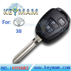 Toyota 3 button remote key shell(without logo)