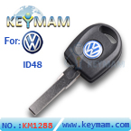 VW Passat ID48 transponder key with light